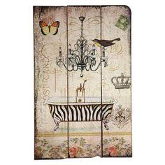 Vintage Primavera Wooden Wall Art, $35 !!