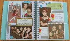 CTMH My Crush Bluebird Book - two page dance layout with 4x4 flip flaps