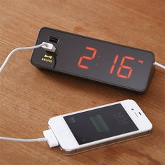 LED Alarm Clock will charge your phone at night | Coolest Gadgets