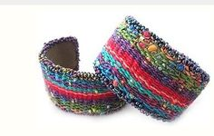 Learn to make hand woven bead and tapestry cuffs