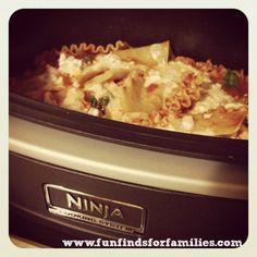 healthy lasagna in the ninja