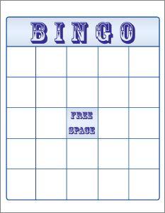 blank bingo cards for preschoolers july calendar 2017