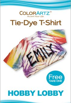 Kick start your summer with this tie-dye t-shirt project!
