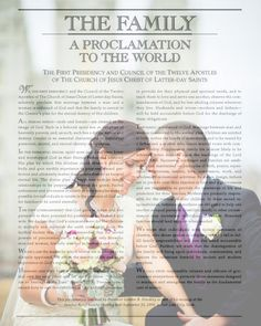 Custom Made LDS Family Proclamation with your photo.