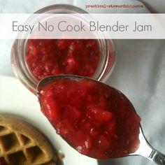 Easy No Cook Blender Jam