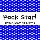 This clip chart is star themed to encourage positive reinforcement within your classroom.   Blue - Rock Star! Purple - Super Star Pink - Shooting S... rockstar classroom, rock stars