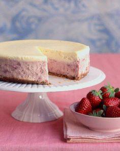 Cheesecakes // Strawberries-and-Cream Cheesecake Recipe
