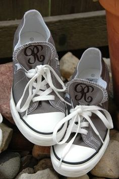 """Check out Embroidery Garden's free tutorial, """"How I Monogram Converse Shoes' on an embroidery machine! www.embroiderygarden.com"""