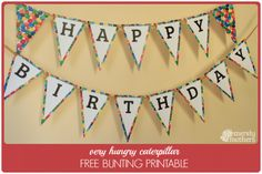 FREE Very Hungry Caterpillar Bunting Printable – merelymothers