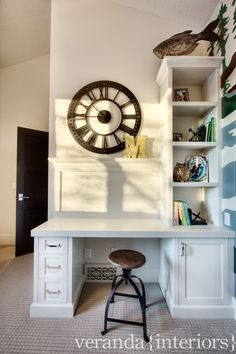 built in desk // veranda interiors