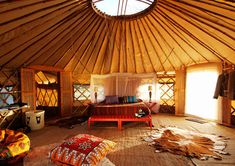 Not sure if you know what this is but its a yurt and they are awesome. decor, interior, dream, yurts, hous, place, space, bedroom, live