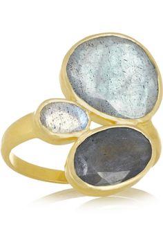 Pippa Small|18-karat labradorite ring|NET-A-PORTER.COM