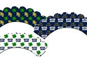 ND Football Cupcake Wrappers