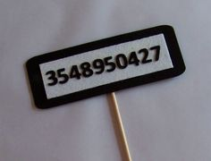 Photo booth Props. Jail Number Bar.