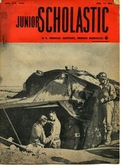 A U.S. Medical Outpost in French Morocco on the cover of Junior Scholastic in January of 1943.