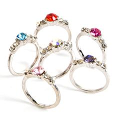 Metal Ring with Stone (Bulk Pack of 36 Rings) at theBIGzoo.com