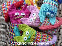 Crochet pattern cat by ATERGcrochet by ATERGcrochet on Etsy