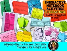 Interactive Reading Notebook bundle of over 90 activities covering all of the reading literature standards for grades 6-12.