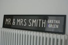 Bespoke Wedding Bus Blind  YOU CHOOSE TEXT by vintagehoneypot,
