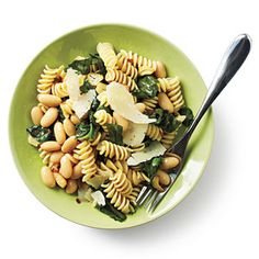 Superfast Vegetarian Recipes   Rotini with White Beans and Escarole   CookingLight.com