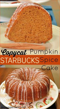 Copycat Starbucks Pumpkin Spice Cake Recipe will blow your pumpkin spice mind!