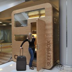 Sleepbox, tiny hotel rooms for napping at airports. Brilliant!