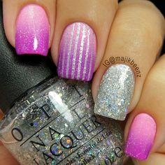 nailart, china glaze, nail arts, sparkle nails, glitter nails, nail nail, beauti, pink, nail design