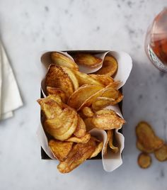 fingerling potato chips.