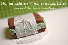Homemade Ice Cream Sandwiches