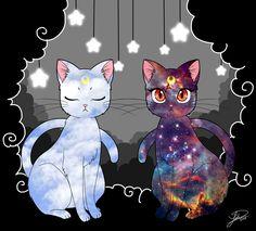 Sailor Moon / Luna and Artemis