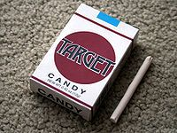 CANDY CIGARETTES: These were super cool since you kinda felt like an adult!