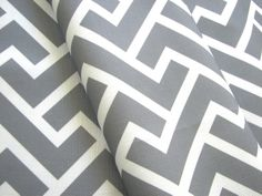 Chloe in Dove- Original Geometric Vintage Inspired Home Decor Fabric