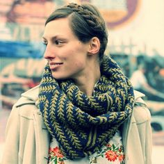 NobleKnits Knitting Blog: HiKoo Kenzie Pine Bough Cowl Free Knitting Pattern