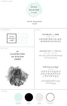 Updated Branding!  Rive Gauche Craft     Illustration & Graphic Design for Blogs, Web, & Print     www.rivegauchecraft.com