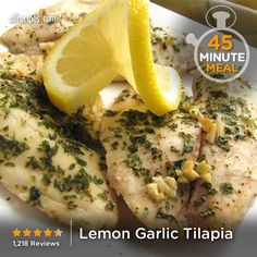 """Lemon Garlic Tilapia 