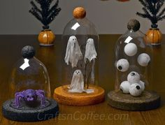 a trio of Halloween cloches you can DIY