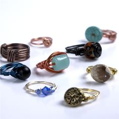Wire Wrapped Rings Instructions DIY Beading #CousinCorp