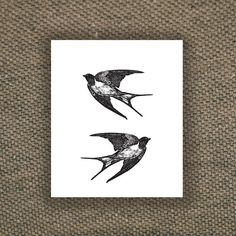 """""""Vintage swallow temporary tattoo by Tattoorary on Etsy, $6.00"""""""