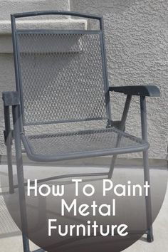 How to paint metal furniture