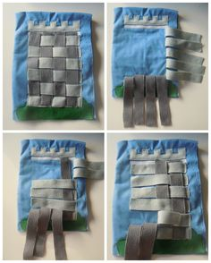 Page 4 Weaving the Tower. Using the light and dark strips, you can build the tower using simple over and under, basket weaving technique. By having the dark strips one way and the light strips the other it is easy to tell which goes over and which under. By elsieandjim