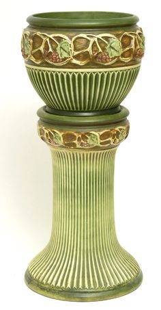 Roseville Pottery  Normandy Jardiniere & Pedestal