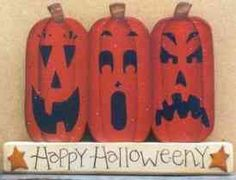 Free decorative painting patterns for Halloween from FreeCraftz.com