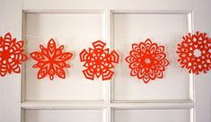 Not your old paper snowflakes