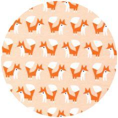 Rae Hoekstra, Fanfare FLANNEL, Organic, Foxes Pink