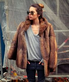 fashion, furs, winter looks, outfit, jeans, jackets, street styles, grey, coats