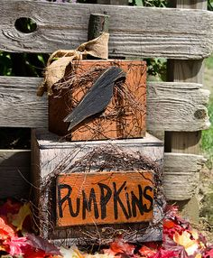 Prim Pumpkin & Crow Welcome...