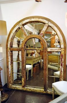 I could repurpose this old window... sweet!