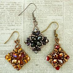 """Linda's Crafty Inspirations: Playing with my beads...""""Noah"""" Earrings"""