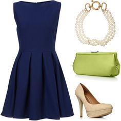 navy + lime green