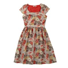 Autumn Bloom Raglan Cap Sleeve Jacquard Dress - perfect for as the days get cooler. Pair with brown leggings and boots and a burgundy cardigan